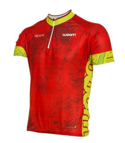 Camiseta Ciclista Woom Essence Alpes Tamanho M Vermelha