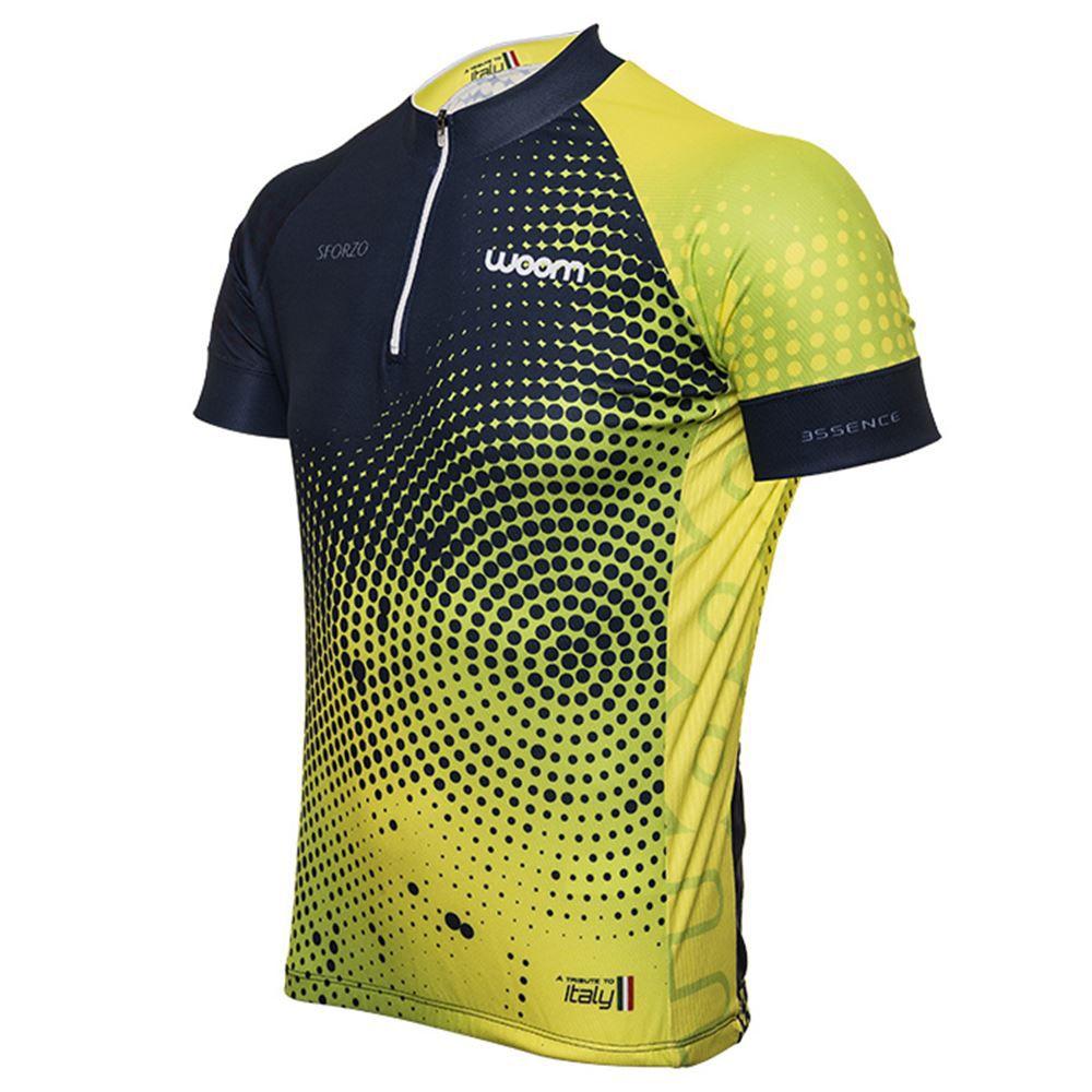 Camiseta Ciclista Woom Essence Sforzo Tamanho M Verde Limão