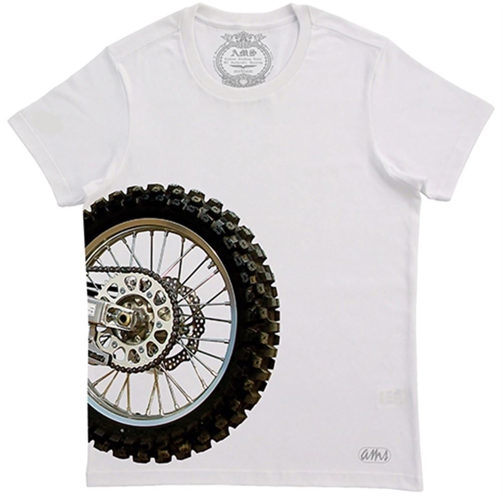Camiseta Masculina AMS Motocross Wheel Branca M