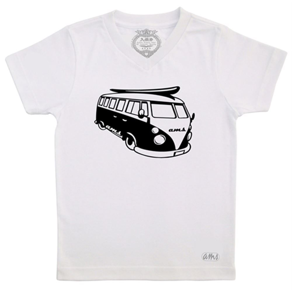 Camiseta Masculina AMS Kombi Branca Tamanho M