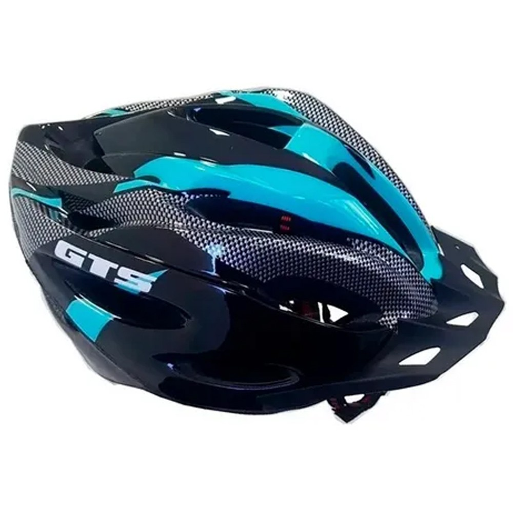 Capacete Bike GTS Com Sinalizador Led Azul Tiffany G