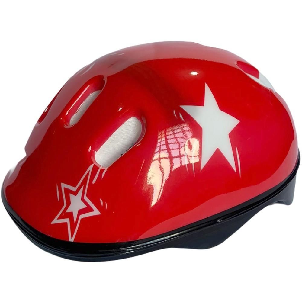 Capacete Bike Infantil Modelo Estrela GTS Vermelho