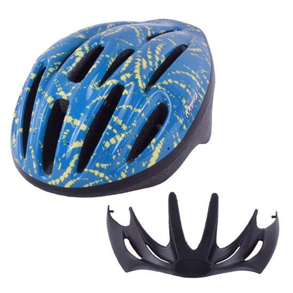 Capacete Bike Kripta Adulto Azul e Amarelo