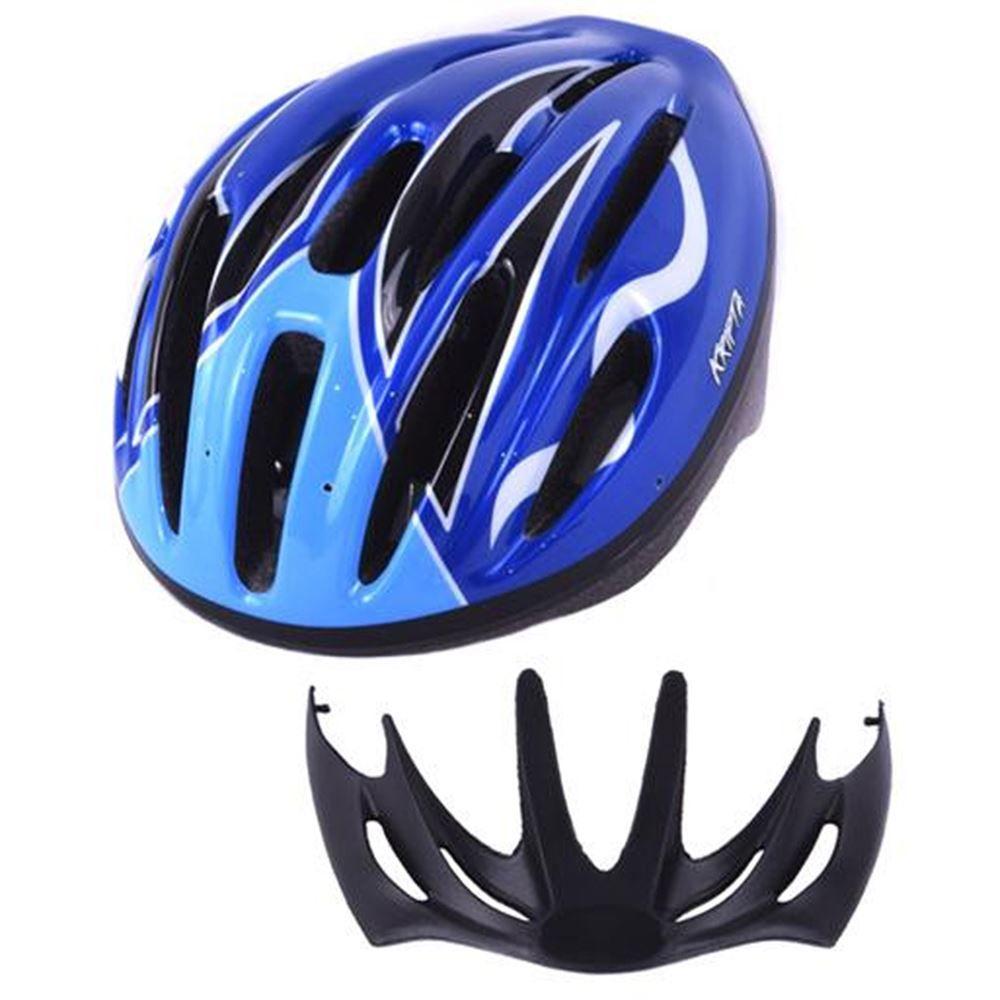 Capacete Bike Kripta Adulto Laser Azul