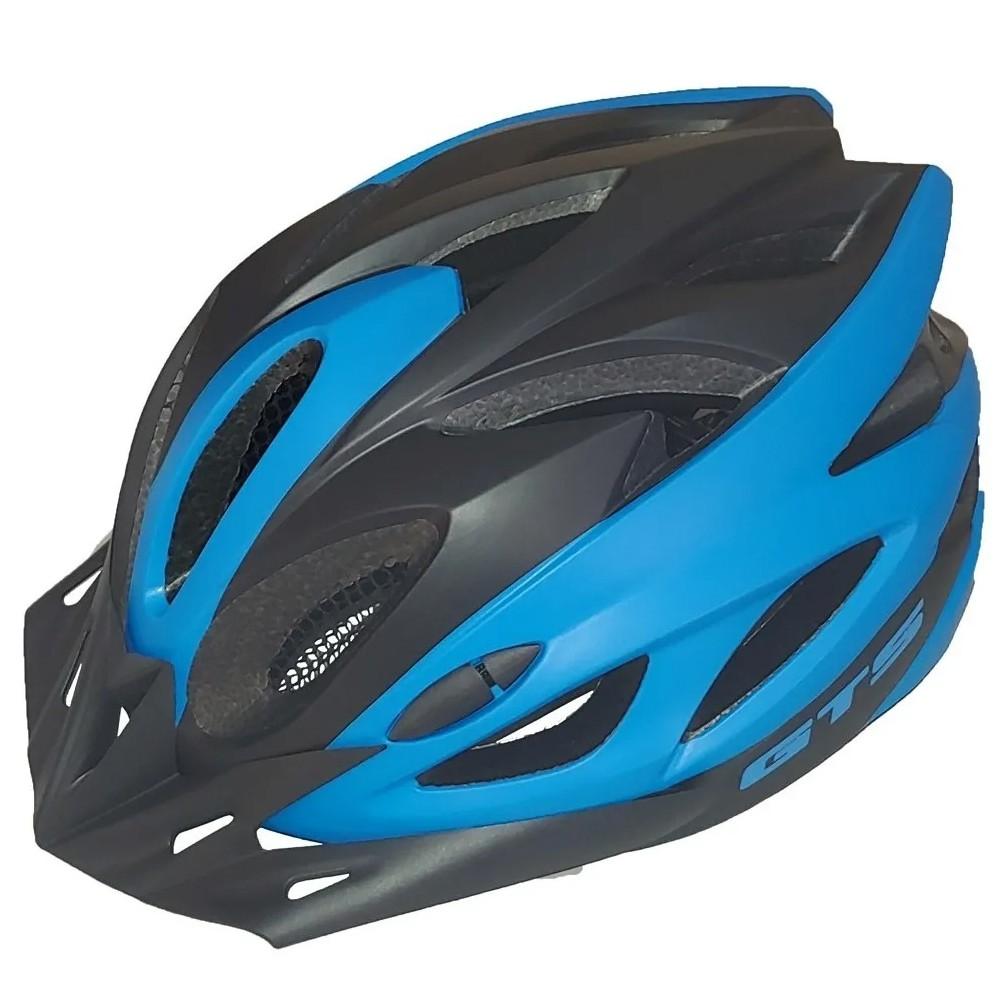 Capacete Ciclismo GTS Vista Light Preto e Azul Tamanho M Azul