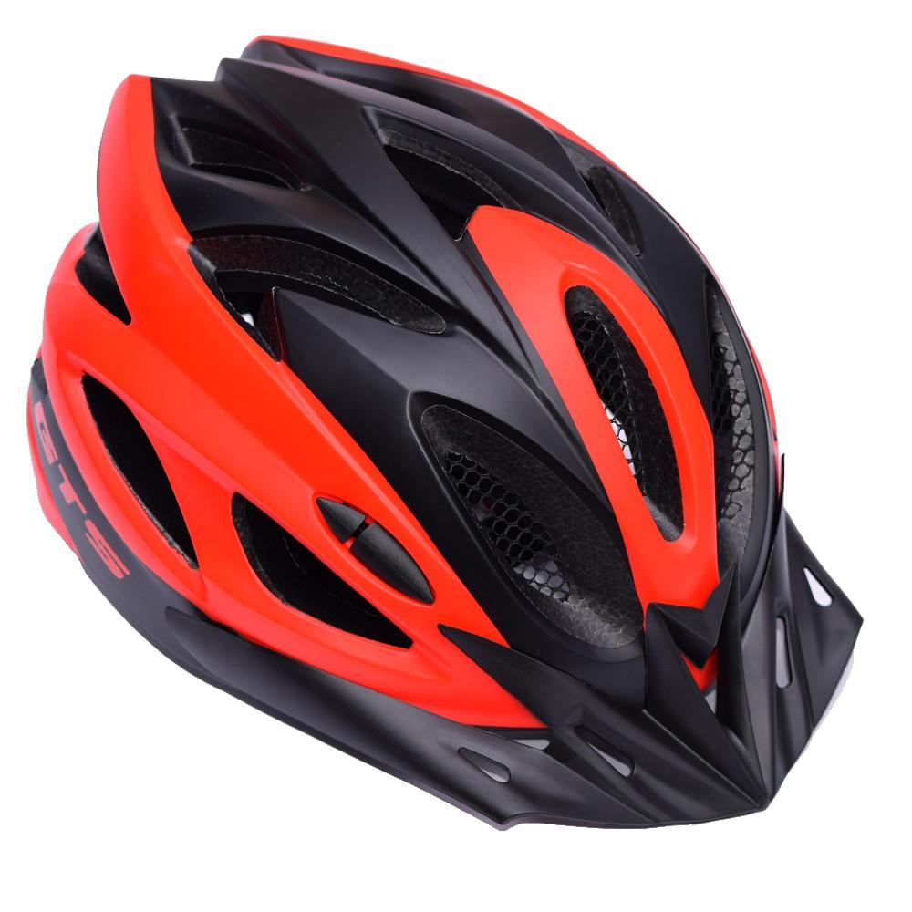 Capacete Ciclismo GTS Vista Light Preto e Vermelho Tam. M