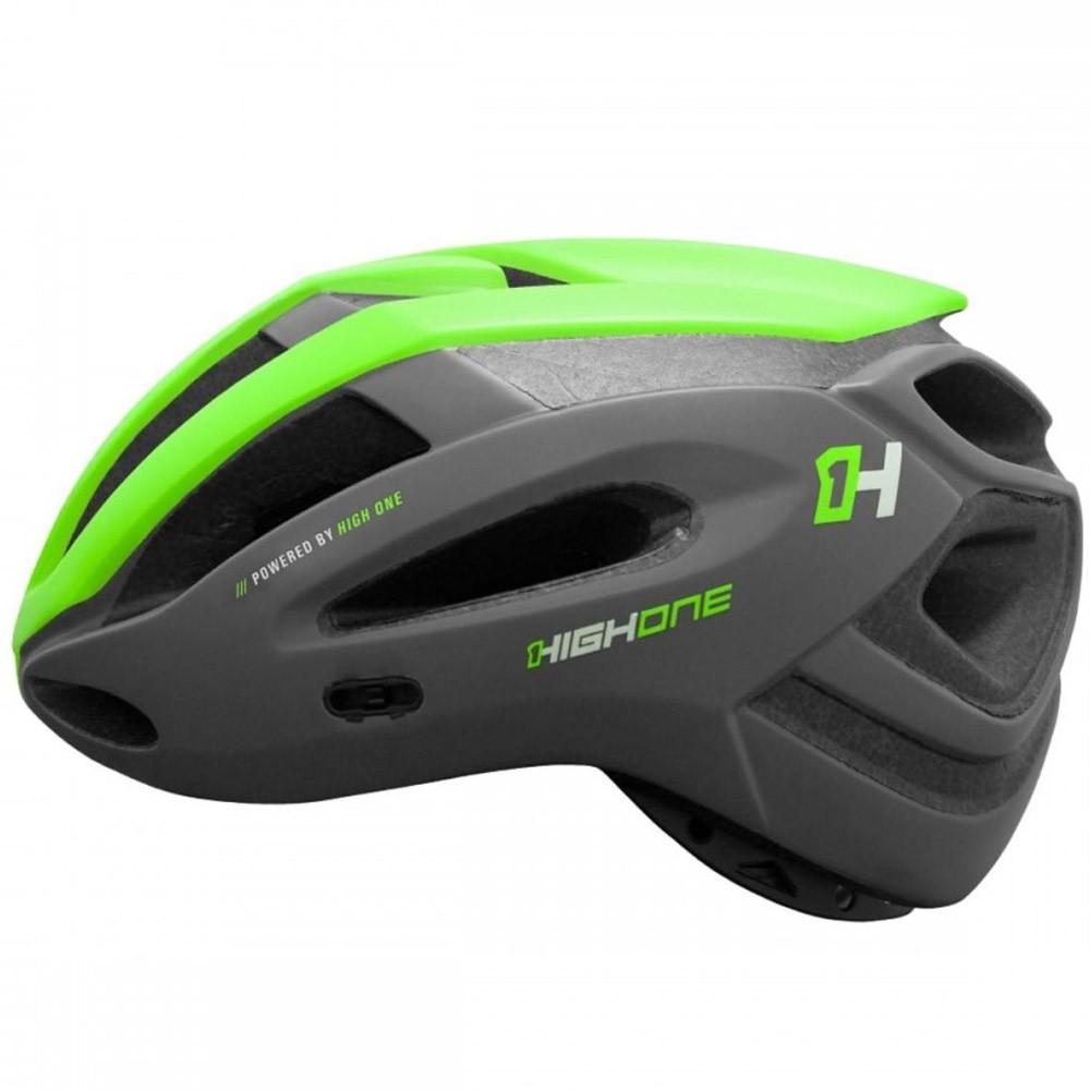 Capacete Ciclismo High One Ahead Verde Neon Tamanho M
