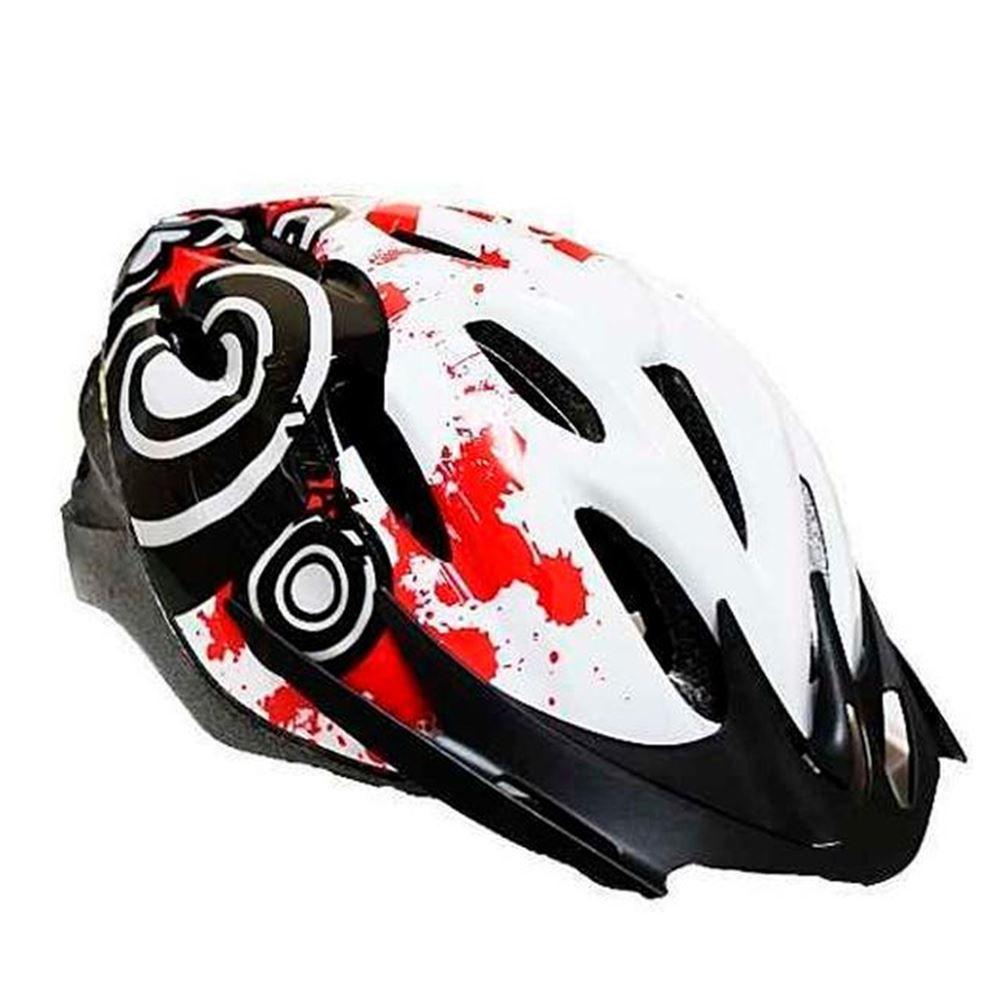 Capacete Ciclismo Ultimate CB-07 Vermelho e Branco