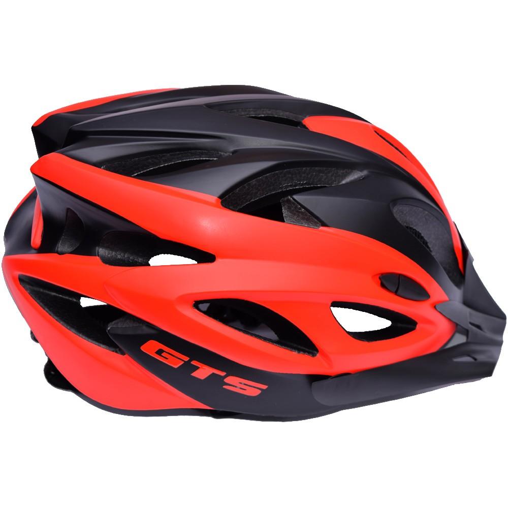 Capacete De Ciclismo GTS Vista Light Preto e Vermelho Tam G