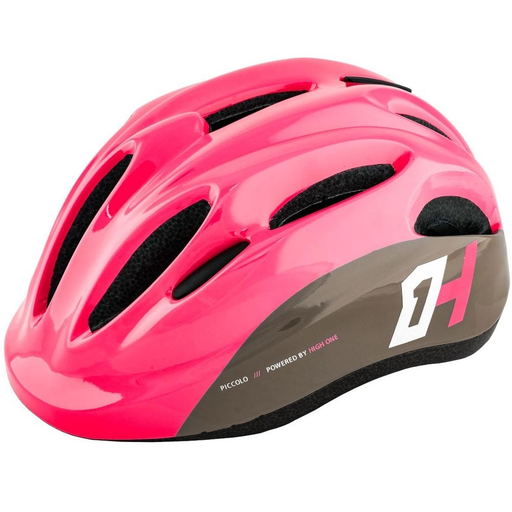 Capacete Infantil High One Piccolo Bike Skate Patins Rosa/Cinza M