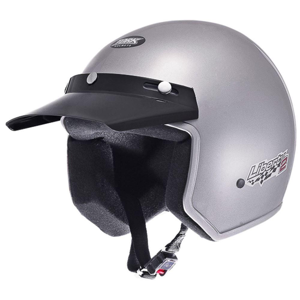 Capacete Moto Aberto Pro Tork Libert Compact Tam. 56 Prata