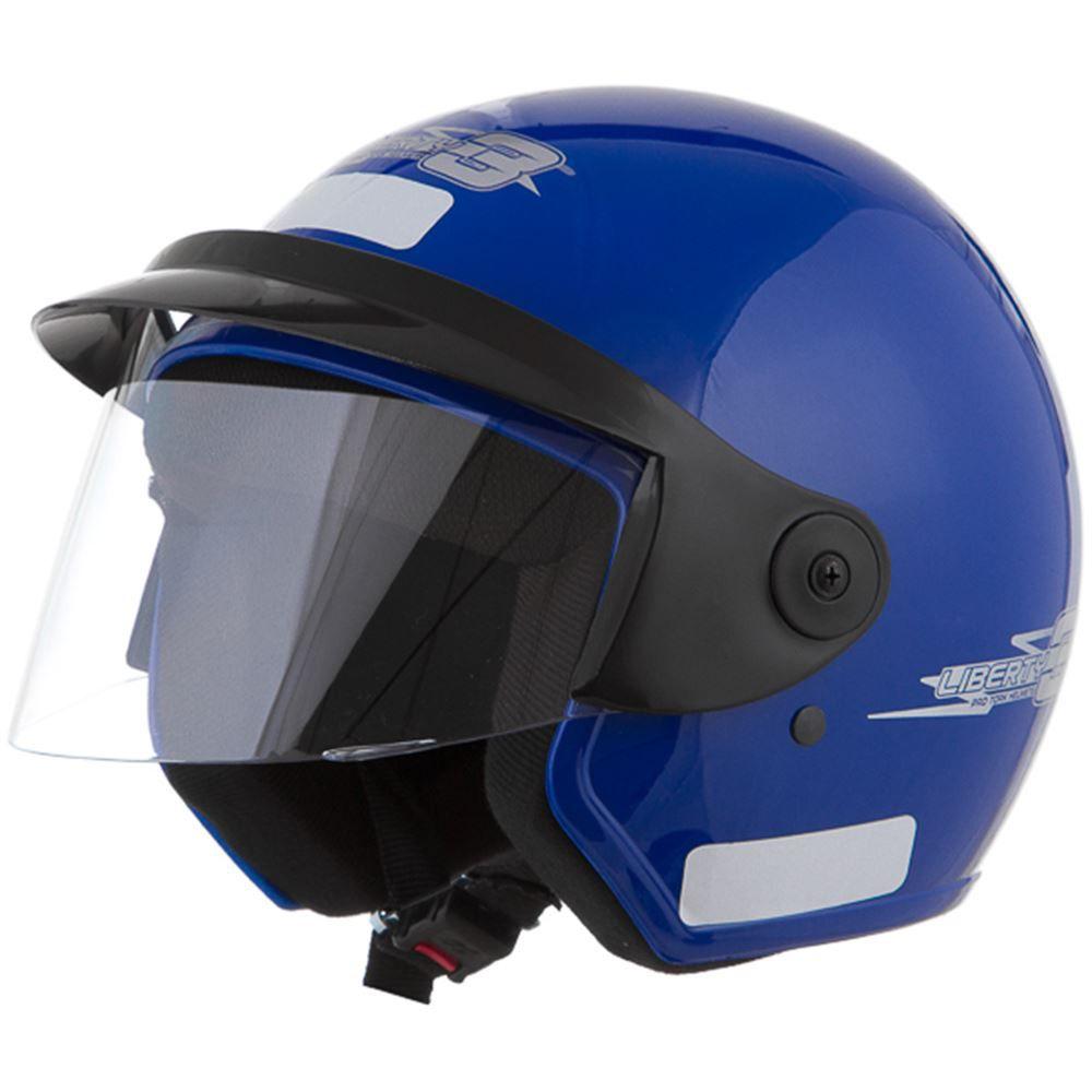 Capacete Moto Aberto Pro Tork Liberty Three Tamanho 56 Azul
