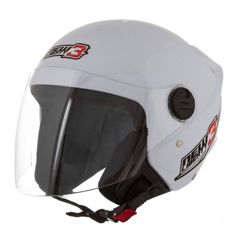 Capacete Moto Aberto Pro Tork New Liberty Three Tamanho 56 Branco