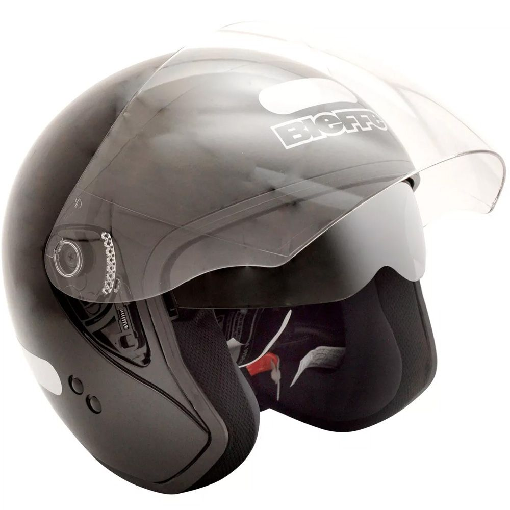 Capacete Moto Bieffe Allegro Classic Tam 56 Preto Fosco