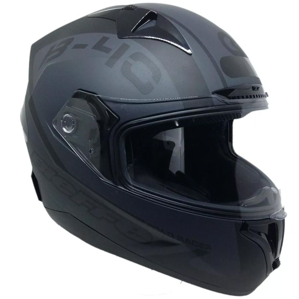 Capacete Moto Bieffe B40 Road Racer Tam 58 Preto Chumbo Fosco