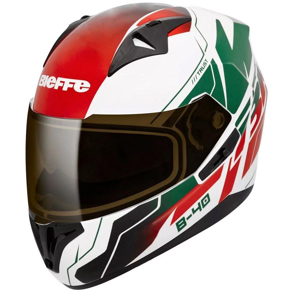 Capacete Moto Bieffe B-40 Trust Italy Tam 58