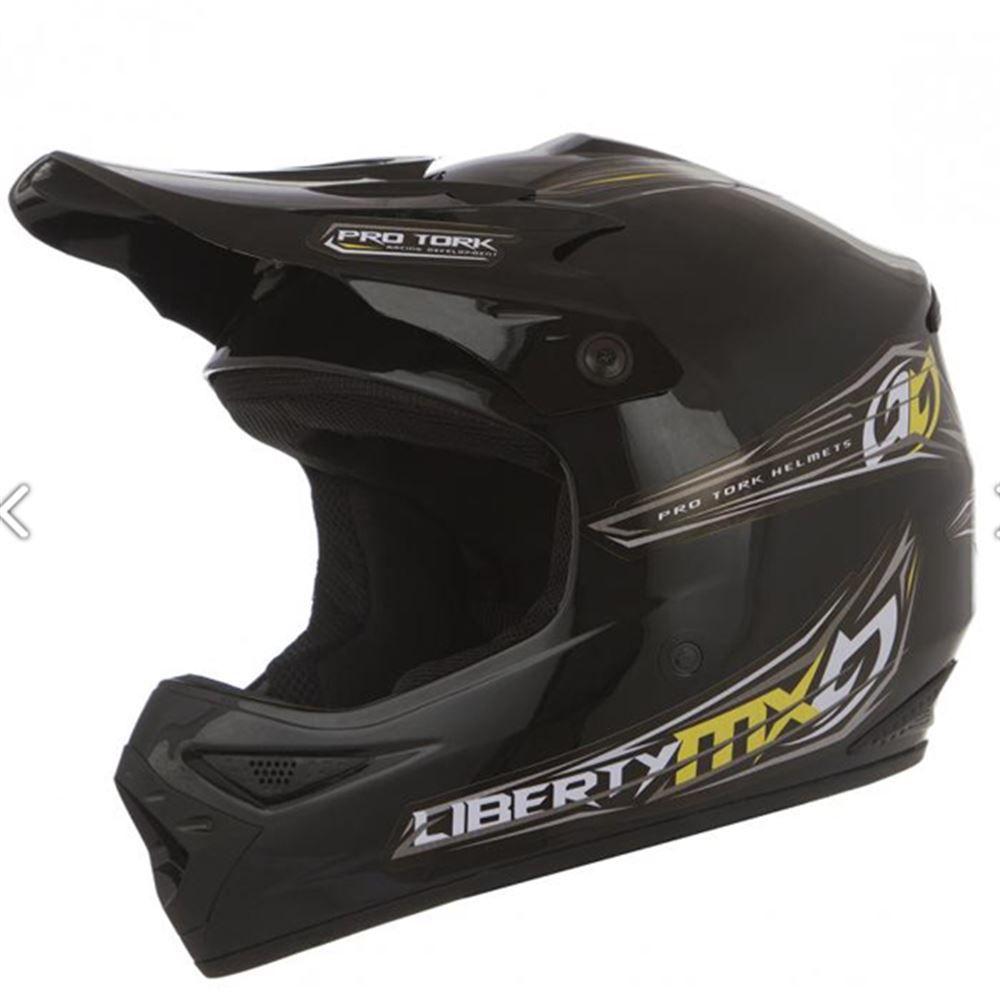 Capacete Moto Cross Tork MX Vision Tamanho 58 Preto