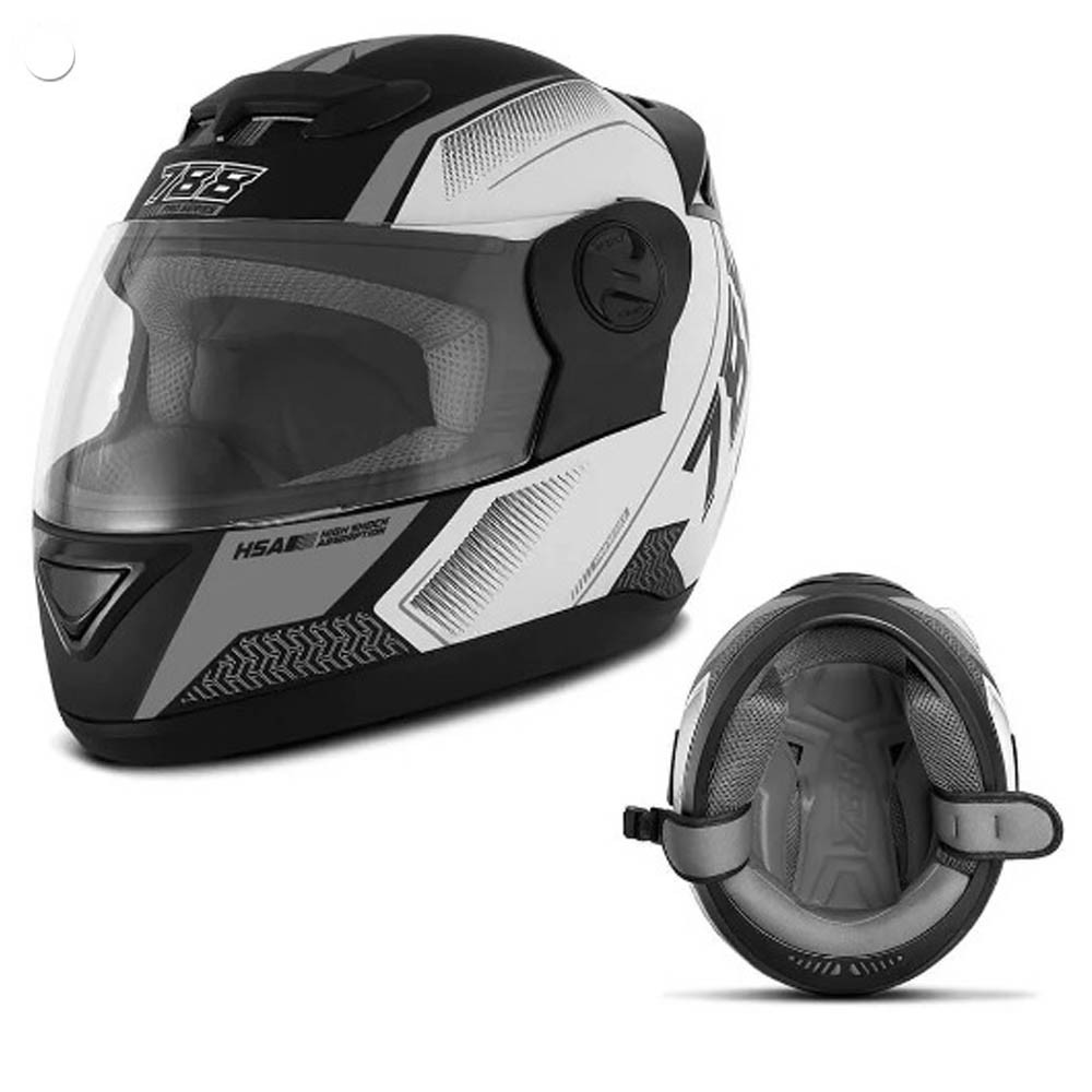 Capacete Moto Pro Tork Evolution G6 Series Tech Preto e Grafite 58