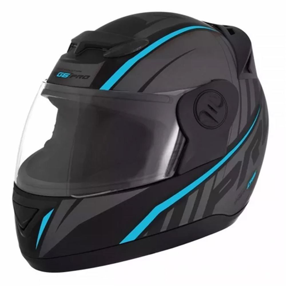 Capacete Moto Pro Tork G6 Pro Tamanho 60 Preto e Azul