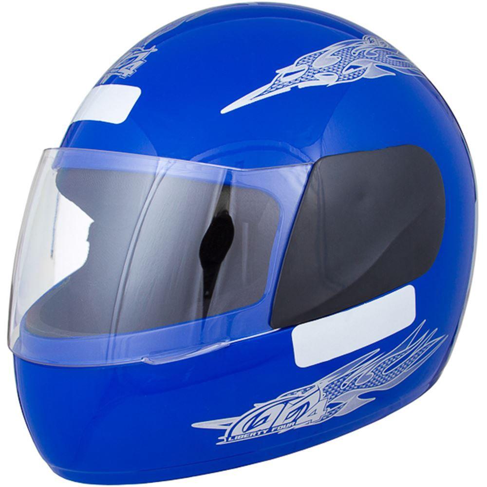 Capacete Moto Pro Tork Liberty Four Tamanho 58 Azul