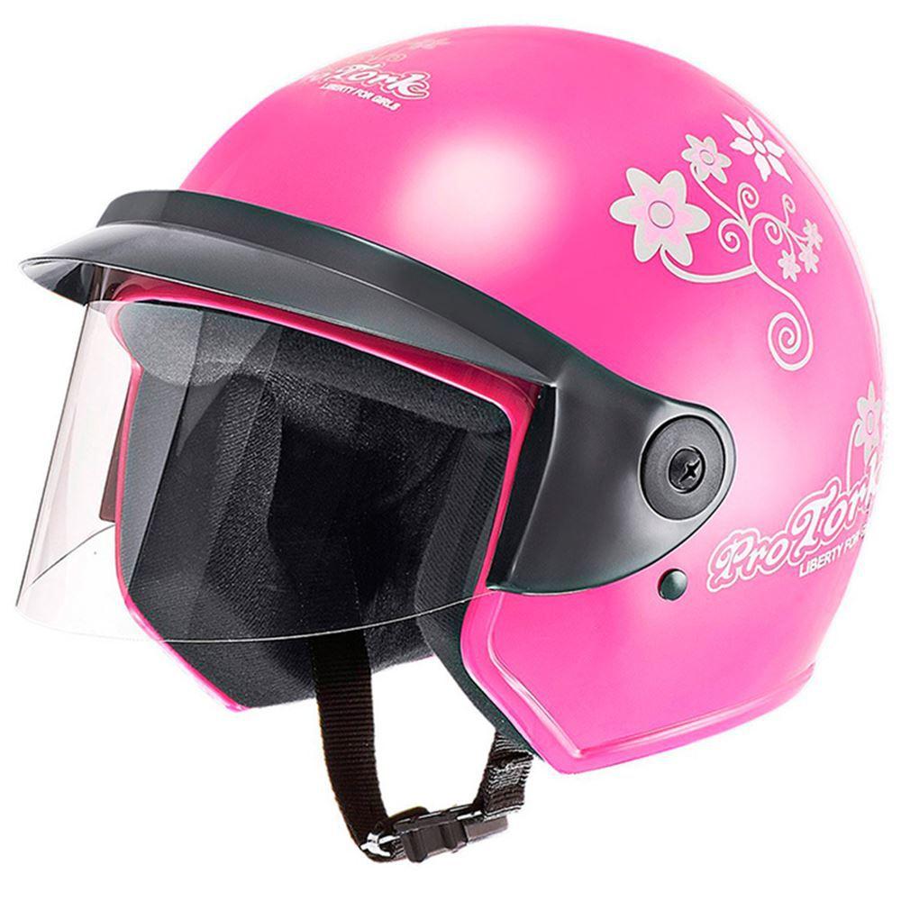 Capacete Moto Pro Tork Liberty Three Floral Tamanho 56 Rosa