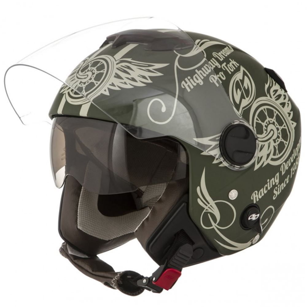 Capacete Moto Pro Tork New Anatomic Tam. 58 Verde Fosco