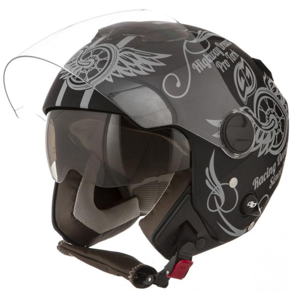 Capacete Moto Pro Tork New Anatomic Tamanho 58 Preto Fosco