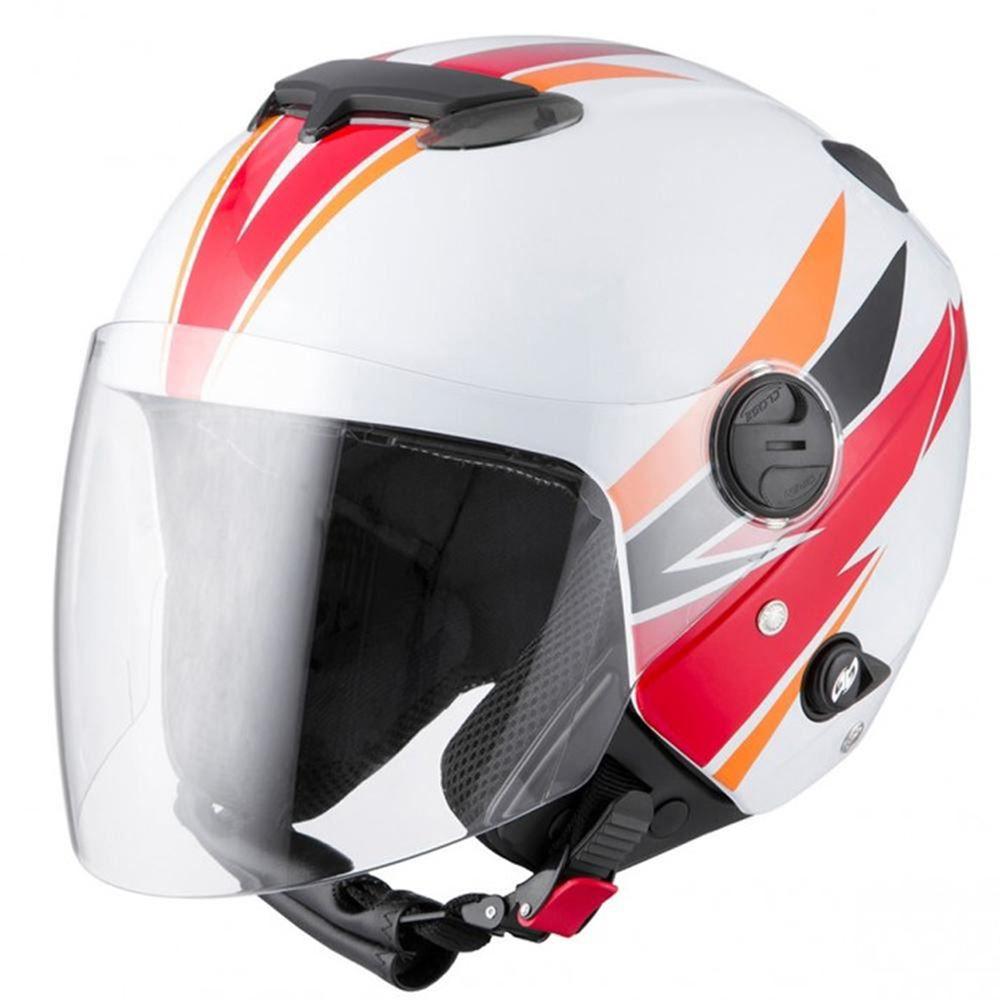 Capacete Moto Pro Tork Superbike Tamanho 58 BC/LAR/VERM