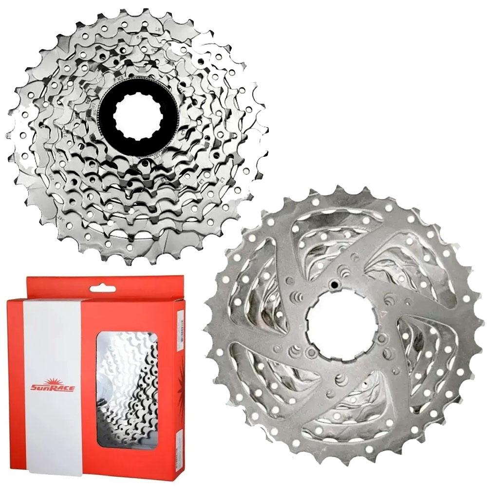 Cassete Sunrace M66 11-34 335g 8v Cromado Mtb Bike