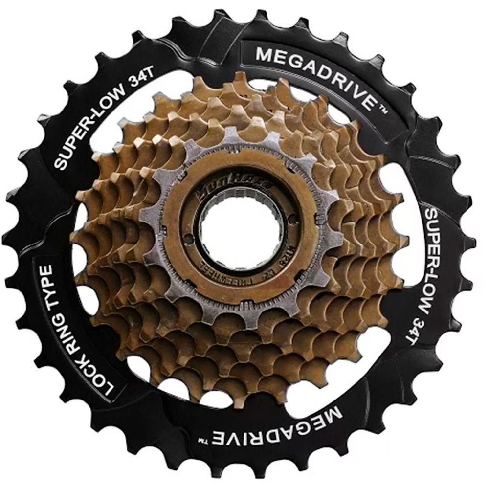 Catraca Roda Livre Sunrace 7v 14-34 Dentes Super Cog Bike