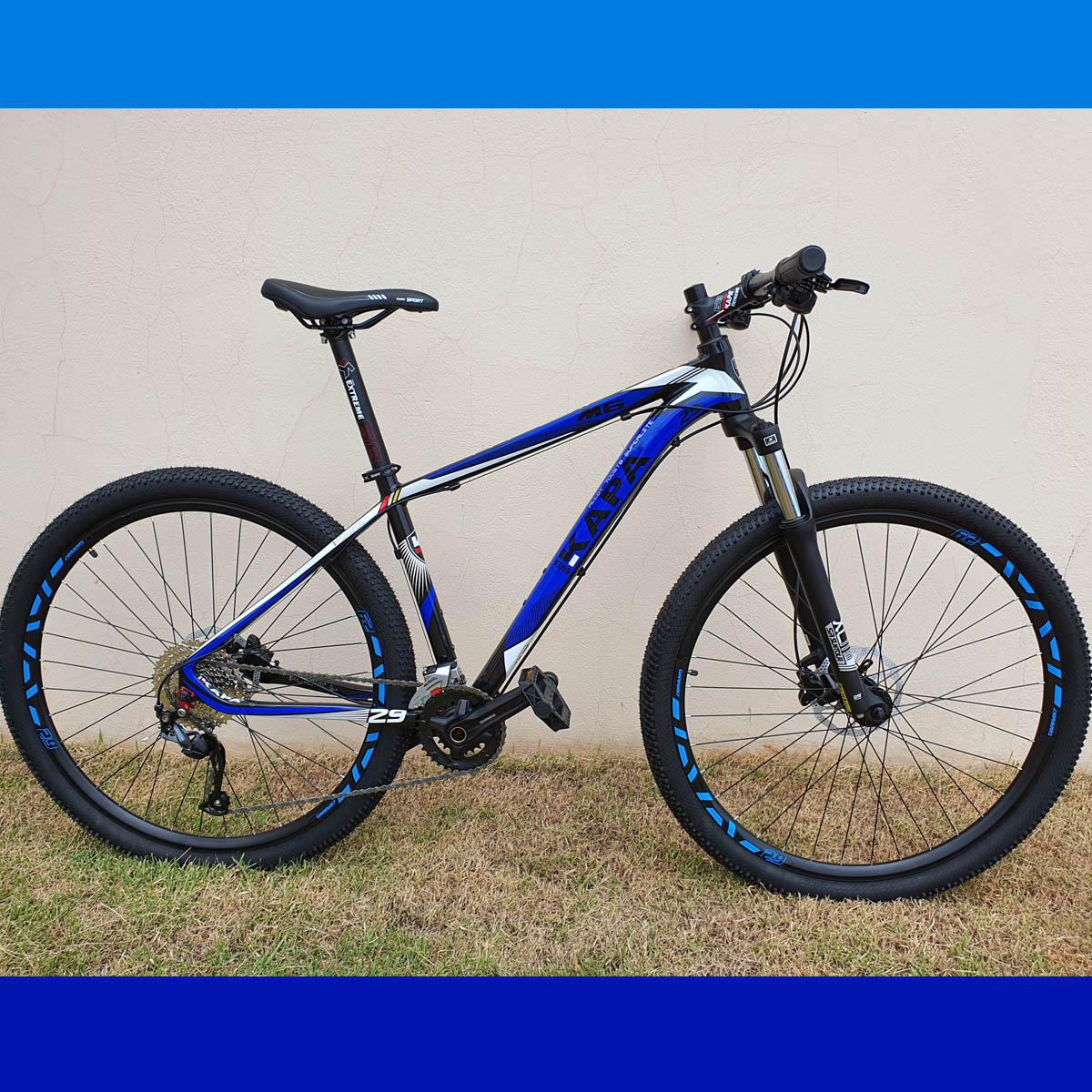 Bicicleta 29 KAPA M6 2x9 Shimano Altus 17.5 Azul