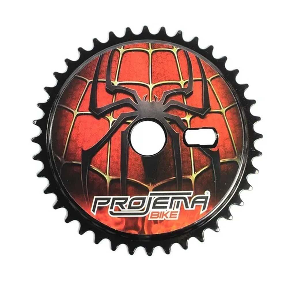 Coroa para Bicicleta 40 Dentes Modelo Spider Man