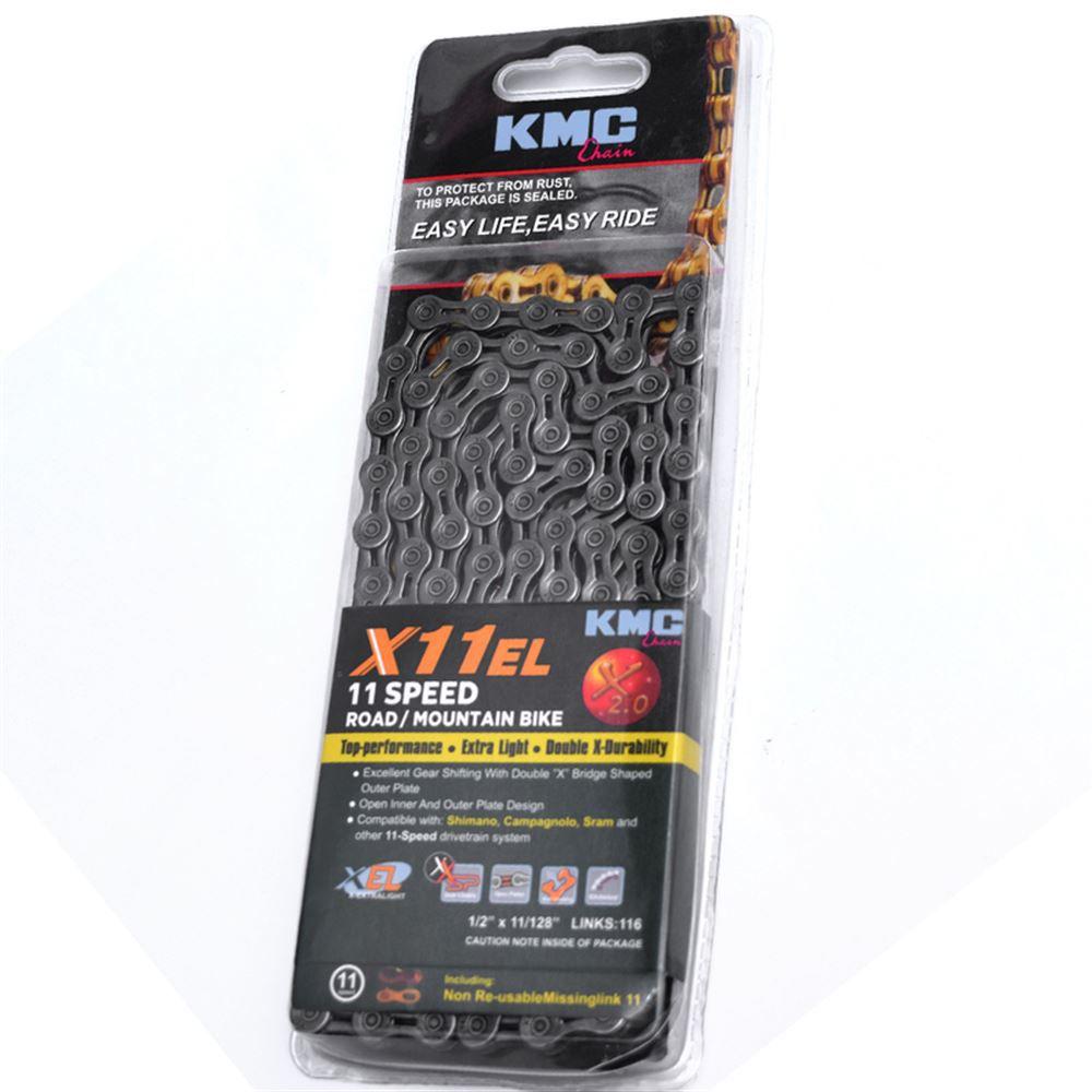 Corrente KMC X11 EL Cinza 116L 11 Velocidades MTB e Speed