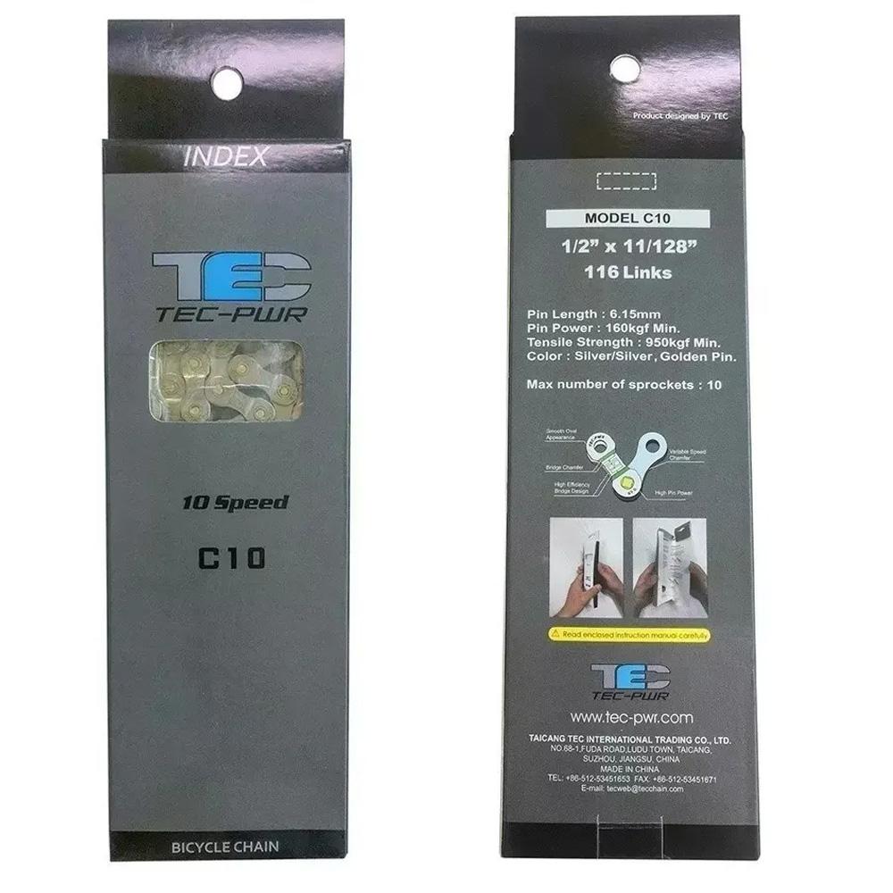 Corrente Tec 10v Index 1/2x11-128x116L Cromado Power Link