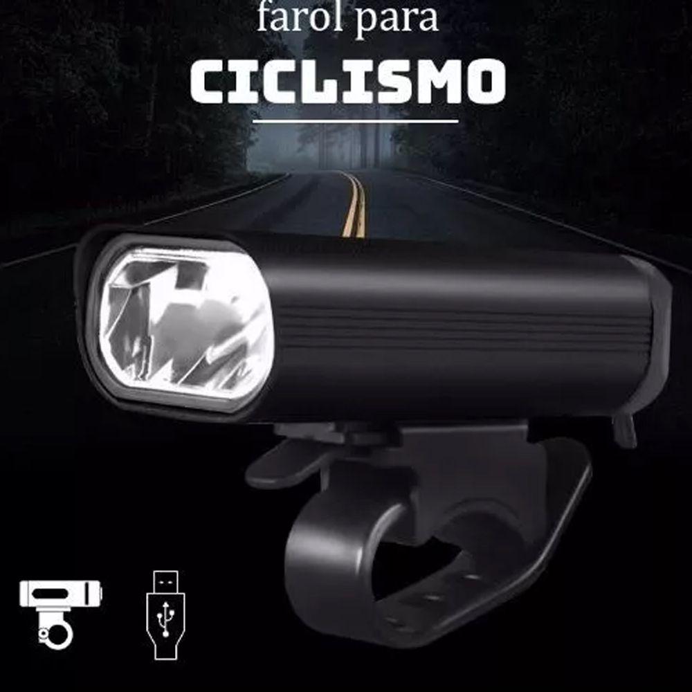 Farol Bike Bicicleta Recarregável Usb 400 Lúmens JWS