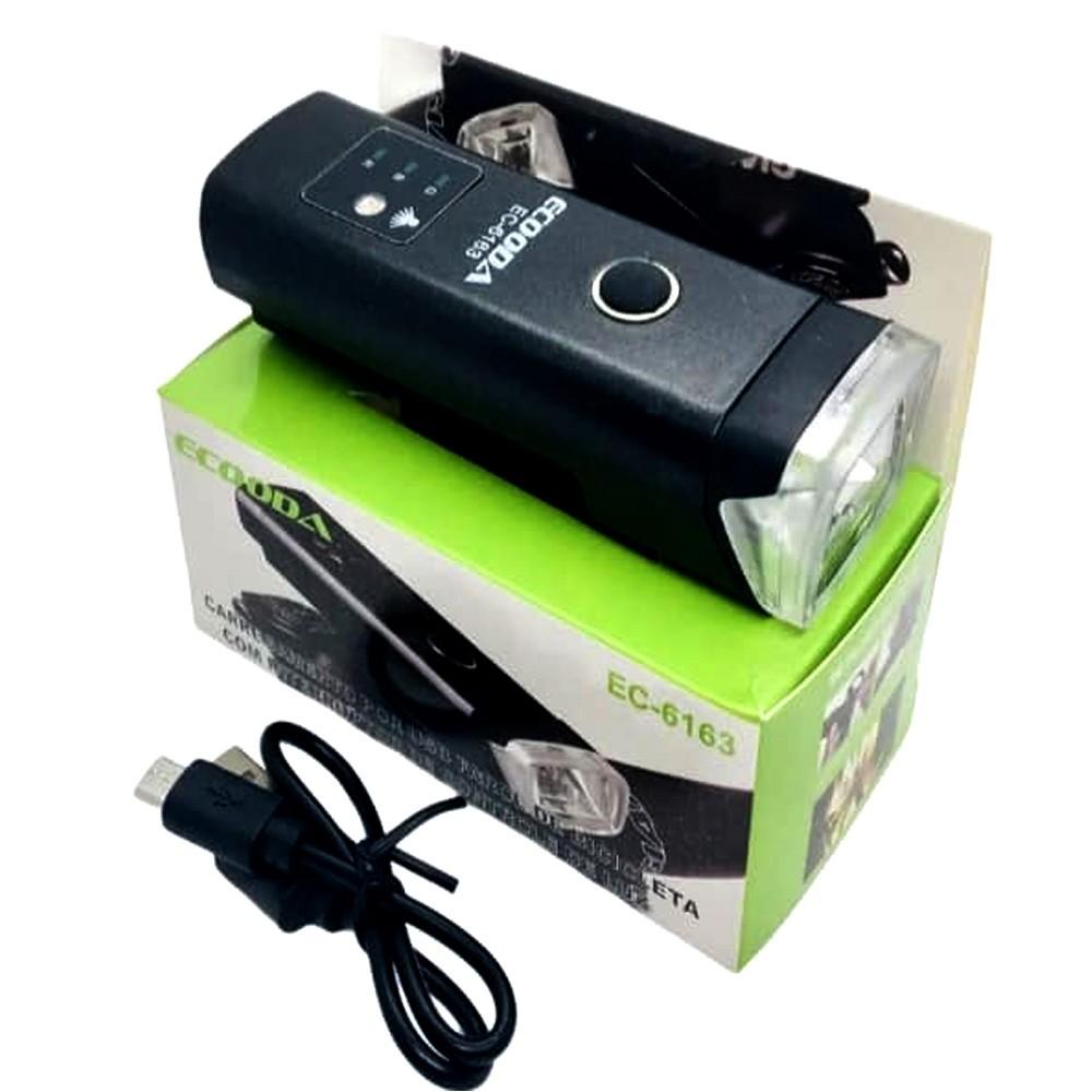 Farol Bike Ecooda  EC-6163 USB Com Sensor Claridade