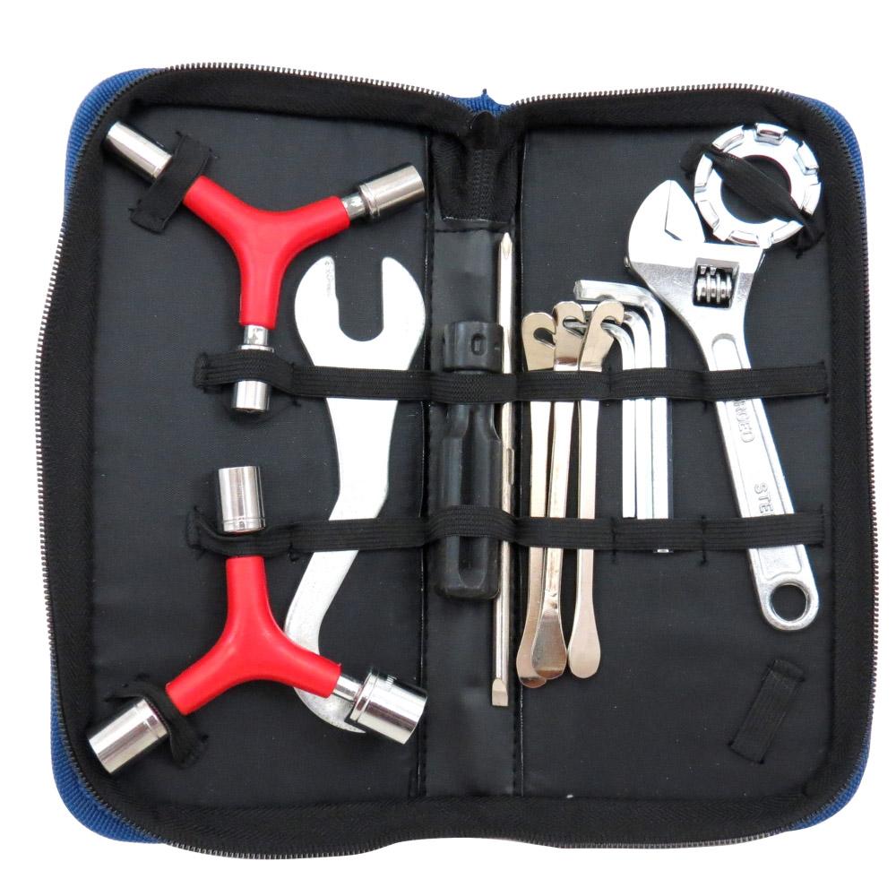Kit de Ferramentas Manutenção Bicicleta Kenli KL-9808 Estojo