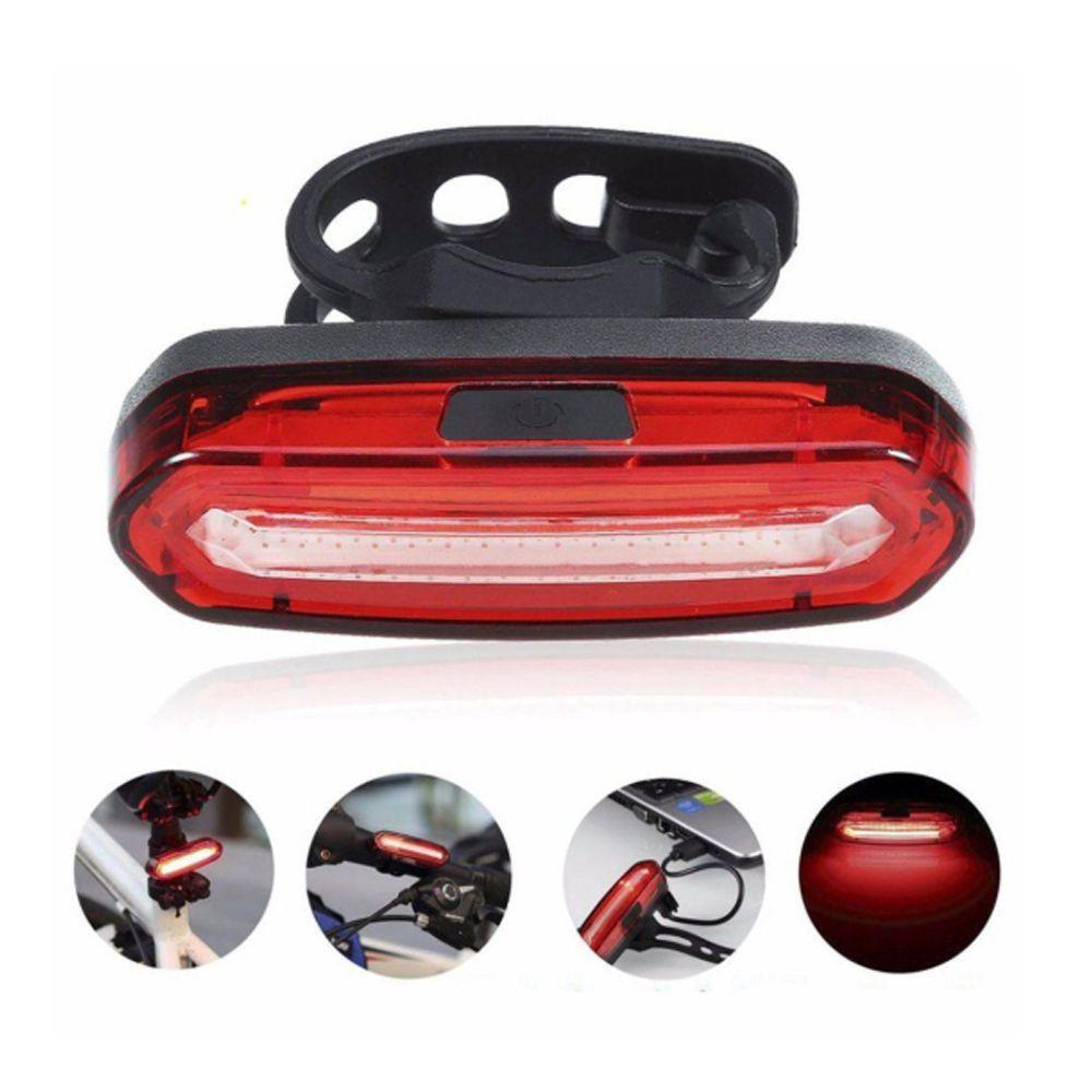Lanterna Sinalizador Bicicleta 70 Lumens Recarregável 3 Cores