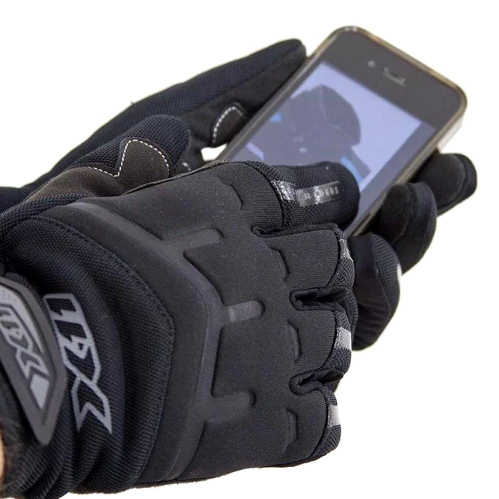 Luva Bike Fechada X11 Fit X Função Touchscreen Preto Tamanho P