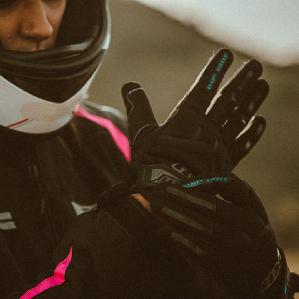 Luva Ciclismo X11 Fit X Feminina Tecido Preta Tamanho G