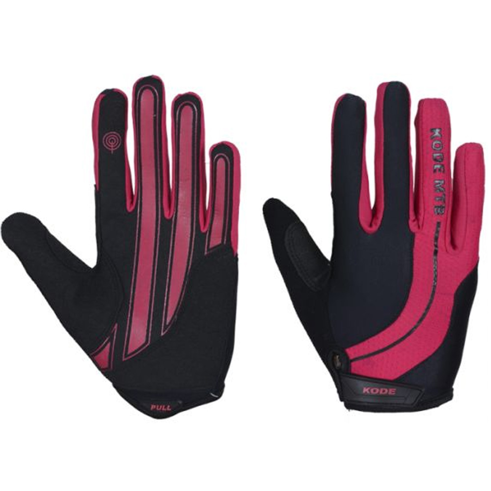 Luva de ciclismo Kode Ladies Line Fechada Preto e Pink XL