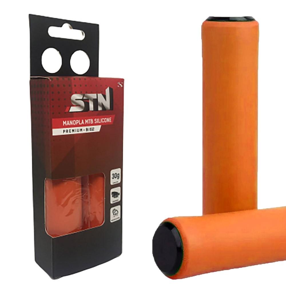 Manopla Bike STN Silicone Premium BI012 Laranja