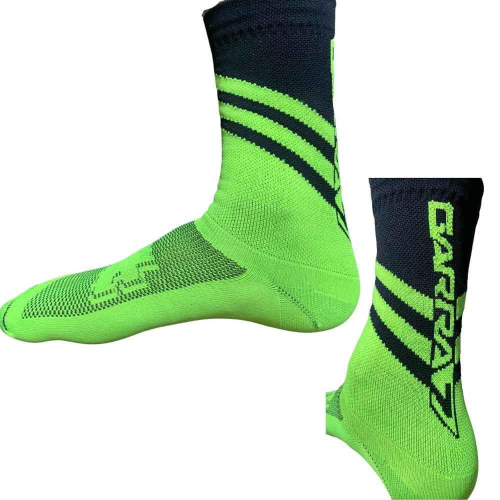 Meia Ciclismo Compressão Garra7 Verde Neon/Preto 39-43 BR