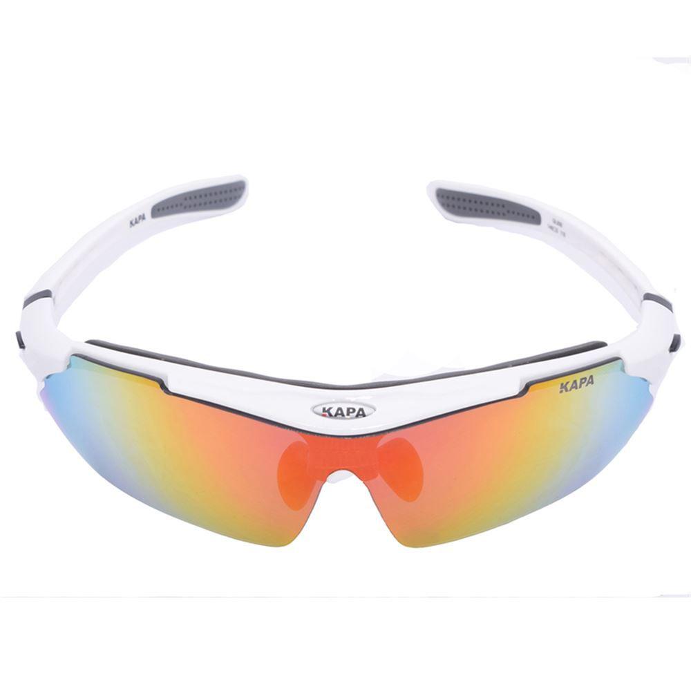 Oculos Ciclismo 5 Lentes KAPA Bikes Branco