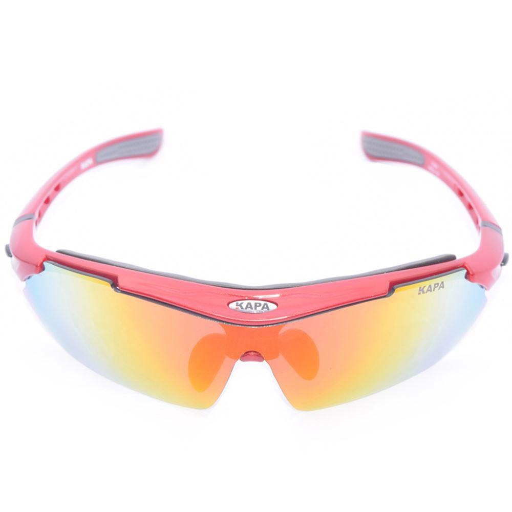 Oculos Ciclismo 5 Lentes KAPA Bikes Vermelho