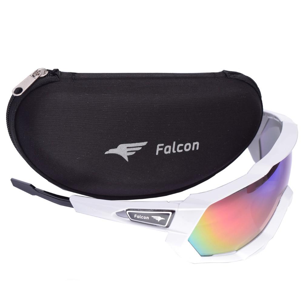 Óculos Ciclismo Bike Falcon Elite Lente Espelhada Branco