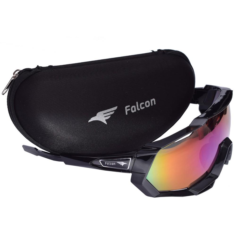 Óculos Ciclismo Bike Falcon Elite Lente Espelhada Preto