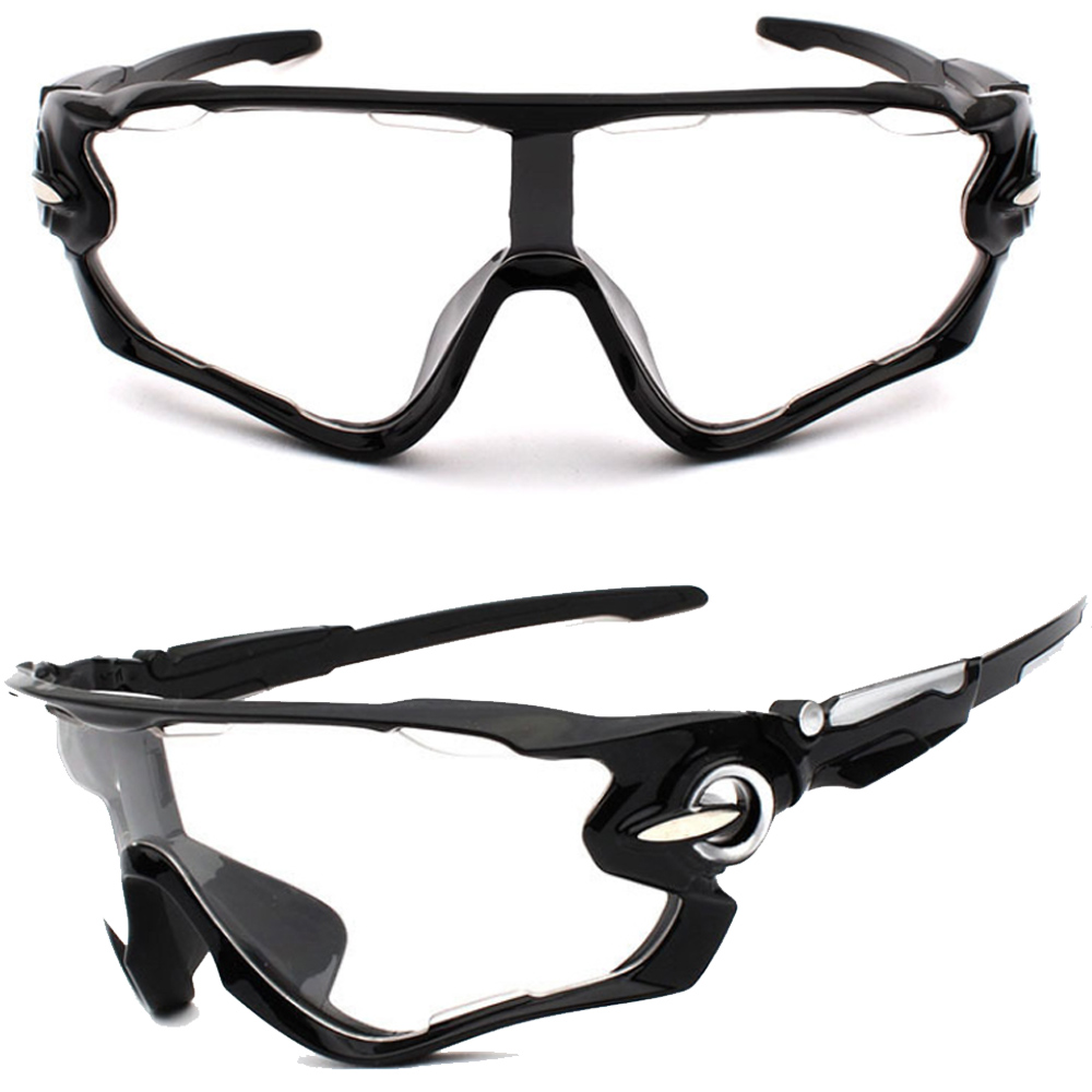 Óculos Esportivo Uv400 Ciclismo Garra7 Preto Lente Transparente