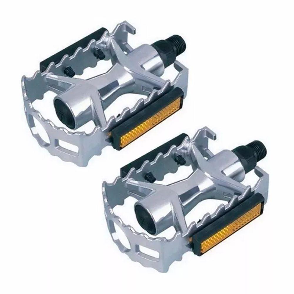 Pedal Alumínio Saiguan MTB 1/2 Sueco Prata