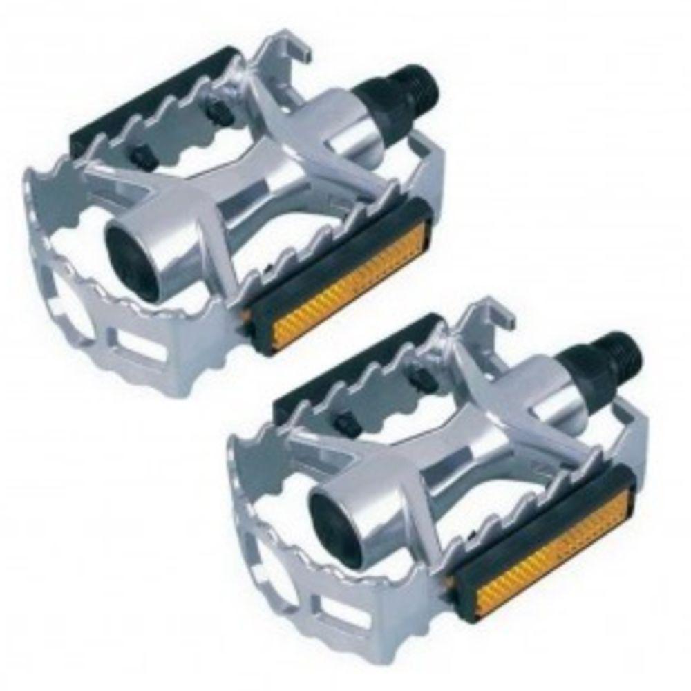 Pedal Alumínio Saiguan MTB 9/16 Ingles Prata